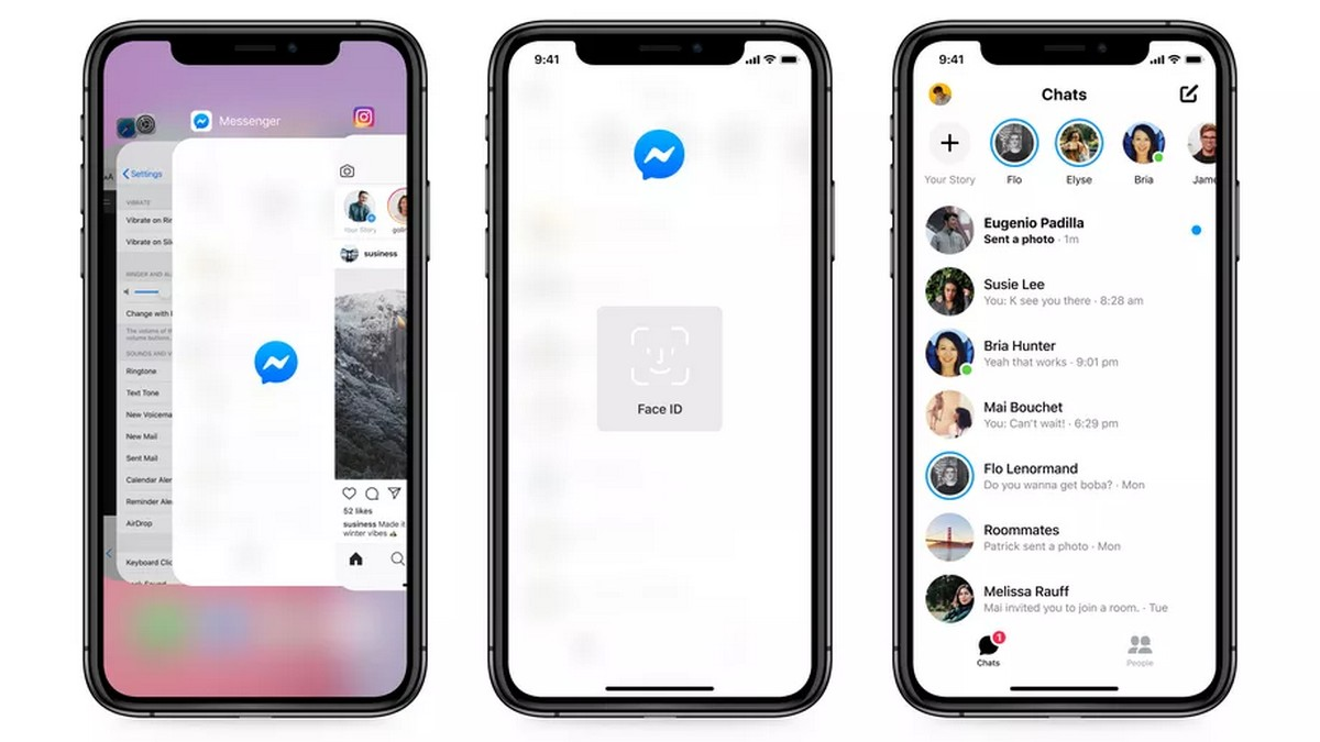 Facebook Messenger can now be unblocked with Face ID